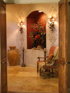 Mediterranean Entry Design, Pictures, Remodel, Decor and Ideas - page 8
