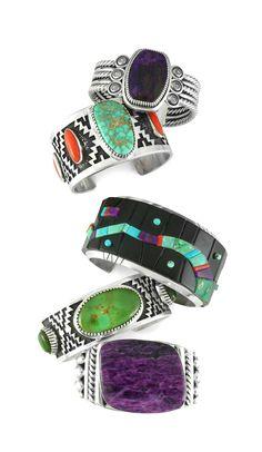Santa Fe style Native American Jewelry | Jennifer Curtis, Michael Dukepoo, Tommy Jackson, Albert & Alfred Lee | wrightsgallery.com