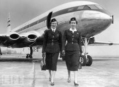 galleries, air hostess, airlin, aircraft flight, 1950, flight attendant, vintag flight, fli girl, air travel