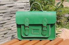 Handmade Genuine Leather Satchel / Messenger Bag / Backpack