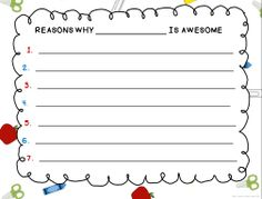 Writing Activities and Prompts for the End of the Year!