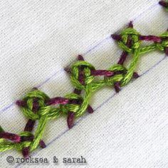 laced herringbone stitch: fig 5