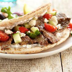 Greek Lamb Pita with Tzatziki Sauce