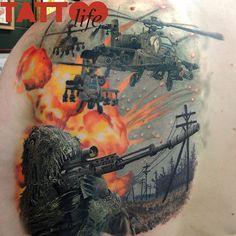 "@tattoolifemagazine's photo: ""Steve Butcher - Matt Jordans Shipeshape Tattoo, New Zealand more on www.tattoolifegallery.com"