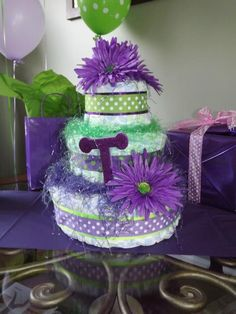 Purple And Green Baby Shower On Pinterest 15 Pins