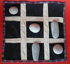Tic tac toe with stones