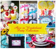 Alice In Wonderland PRINTABLE Party by ABlissfulNestShop on Etsy, $35.00