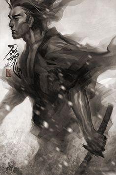 "Samurai Spirit 7 by STANLEY ""ARTGERM"" LAU"