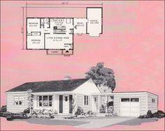 floor plan, contemporari style, 1961 weyerhaus
