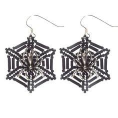 Halloween Spiders Web Earrings