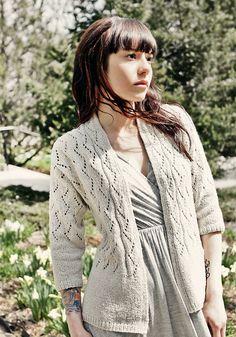 PDF Knitting Pattern: Chic Knits VONICA Lace Cardigan Knitting Pattern on Etsy, $6.00