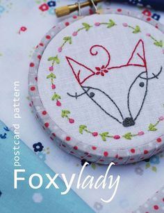 Postcard Patterns by Cinderberry Stitches...... It's a pattern on a postcard, simple, collectable, adorable.