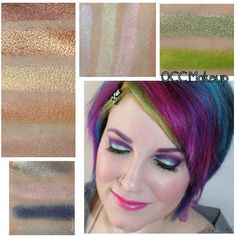 OCC Makeup Loose Colour Concentrates Review, Swatches, Looks. Pin now, play later!  #vegan #crueltyfree #occmakeup