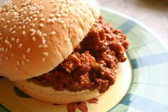 Crock pot sloppy Joes -- or you can make them on the stove top