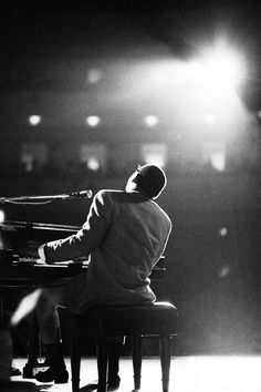 Ray Charles in concert, photographed by Billy Ray, 1966.