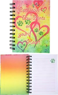 Cats Leave Paw Prints Journal at The Animal Rescue Site