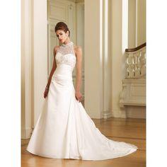 Find high neck long church bridal wedding Dress only $169.95