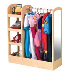 pretend play outfit storage