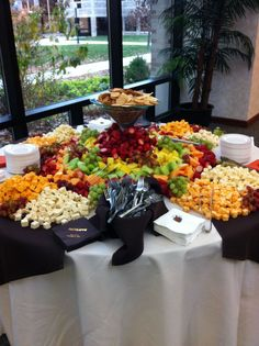 all the fruit and cheese you could ever want, wedding appetizers :)
