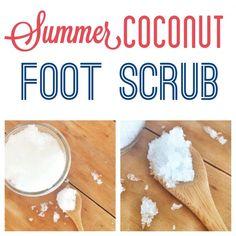 Homemade Coconut foot Scrub to get feet summer ready!