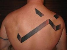 Shoulder Blade Tattoo Cross