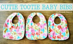 These cute #DIY baby bibs were made using @Waverly fabric from http://funkypolkadotgiraffe.blogspot.com/! #waverize