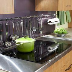 kitchen organization, kitchen storage, cooking utensils, hang utensil, hot rods