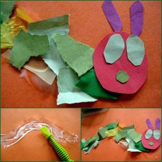 eric carle very hungry caterpillar crafts....Lord knows how much i love Eric Carle