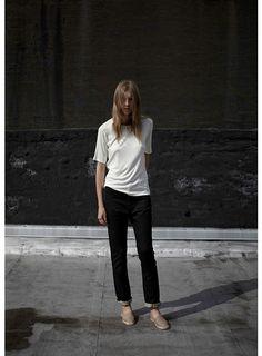 fashion, simpl, white tee, style, basic, casual, black white, la garçonn, wear