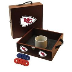 Amazon.com: NFL Kansas City Chiefs Washer Toss Game: Sports & Outdoors indianapolis colts, tailgat, lawn games, denver broncos, toss game, houston texan, washertoss, washer toss, bean bags