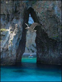 Ponza, Italy ah I swam through there