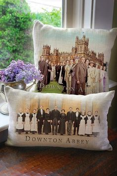 Downton Abbey Cast Pillows are in the wings to be released from a company called Heritage Lace (you too can get on the waiting list - I sure did!) ~ ♥