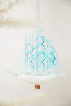Ice Ship Ornament #anthropologie