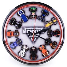 $24.99 but im pretty sure i can make this myself using 1:64 die cast hot wheels. i can get a simple clock from IKEA. it will cost more than $24.99 for sure but it will be one badass clock