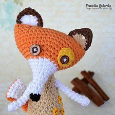 Crochet+fox+pattern+van+VendulkaM+op+Etsy,+$5.30