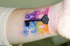 "Watercolor ""love"" tattoo"