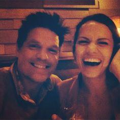 Paul Johansson and Bethany Joy Lenz at dinner! Go follow Paul's instagram @ ptothejohan :)