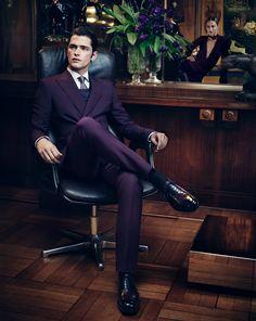 Salvatore Ferragamo Fall/Winter 2012-2013. salvatore ferragamo, purple, salvatoreferragamo, men style, men fashion, salvator ferragamo, suits, sean opri, men suit