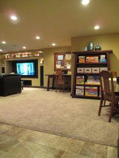 house tours, cleanses, kruse workshop, finished basements, basement idea
