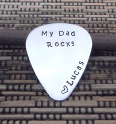 Dad Guitar Pick- Father's Day Guitar Pick- Dad Guitar Pic- Personalized Guitar Pick- Gift For Dad- Daddy Guitar Pick on Etsy, $18.00