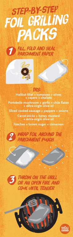 Grilling packs make cooking over live fire incredibly simple... Take a look at how easy it is! #summer #grill