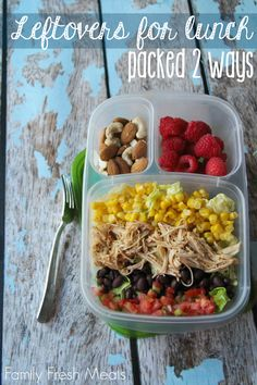 See how to pack leftovers for lunch, two different ways! - Packed in @EasyLunchboxes