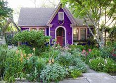 little houses, color, cottage gardens, austin texas, front yards