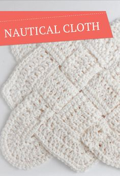Check out this cool sailor's knot dishcloth -- an easy way to add a cool vibe to your kitchen.