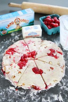 Raspberry Almond Scone Recipe on twopeasandtheirpod.com