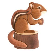 Wood-Burning Patterns for Beginners | Scroll Saw Intarsia - Chipmunk Scroll Saw Pattern