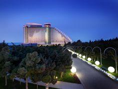 Jumeirah Bilgah Beach Hotel - Hotel Exterior at Night