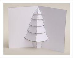 christma tree, tree card, christmas trees, cards, popup christma