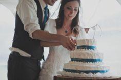 Blue and White Wedding Ideas - Wedding Blues : Monochrome Wedding Style