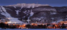 Mt. Tremblant, Quebec, CA.  Can't leave the east coast of N. America, don't mind the cold or flat slopes and have a hankering for great nightlife, head to Tremblant.  A true french canadian riding experience.